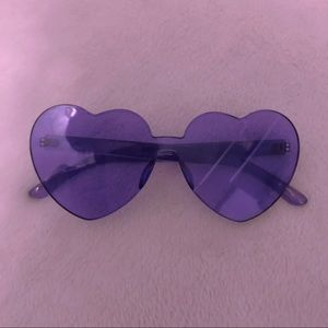 Purple Heart-Shaped Sunglasses